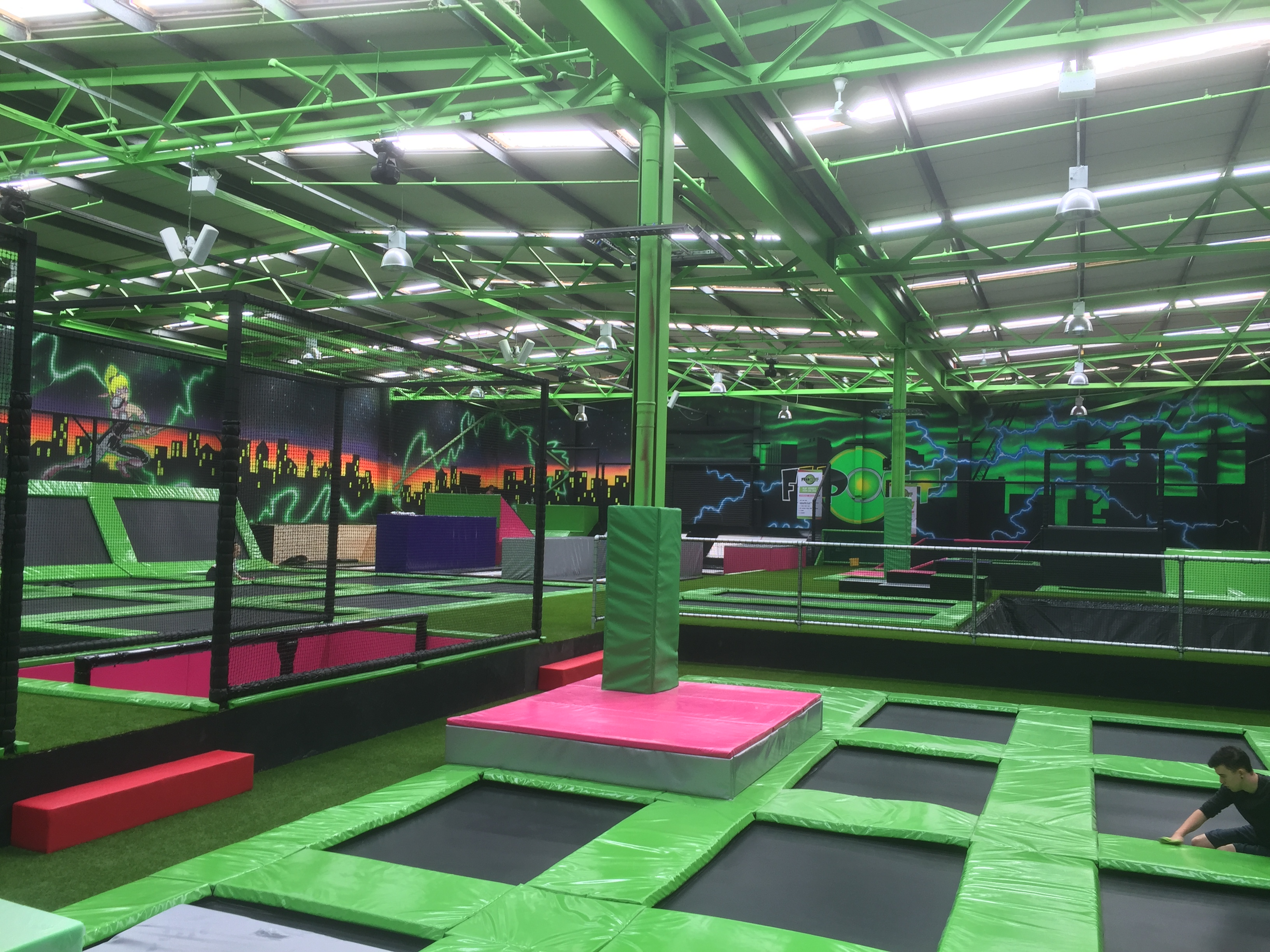 Flip Out in Preston at trampoline park launch