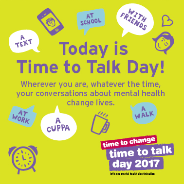 On Time to Talk Day Stockport Council say it's Time to Talk about Mental Health