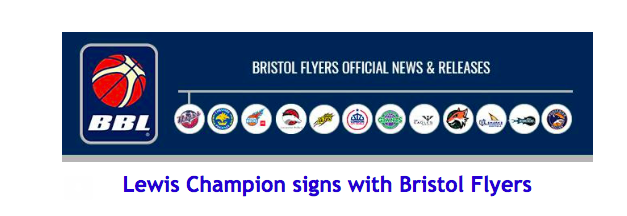 Lewis Champion signs with Bristol Flyers