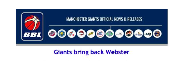 Giants bring back Webster