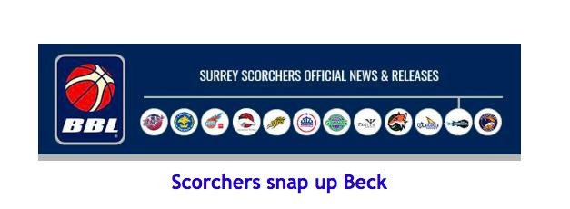 Scorchers snap up Beck