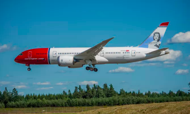 Norwegian Named Most Fuel-Efficient Airline on Transatlantic Routes for a Second Time