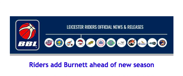 Riders add Burnett ahead of new season